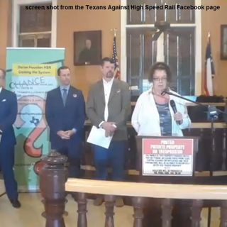 Audio provided by Texans Against High Speed Rail news conference held 2/11/2019