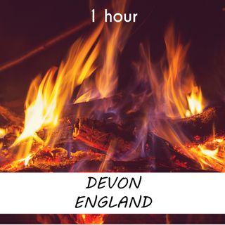 Devon, England | 1 hour CAMPFIRE Sound Podcast | White Noise | ASMR sounds for deep Sleep | Relax | Meditation | Colicky