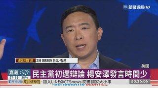 20:53 民主黨總統初選辯論 楊安澤怨被消音 ( 2019-07-02 )