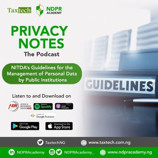 The Guidelines for Managing Personal Data by Public Institutions in Nigeria