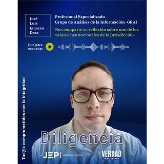 7. DILIGENCIA   José Iguarán, profesional del Grupo de Análisis de la Información de la JEP   EPISODIO 7