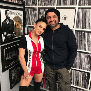 Dj Pup Dawg With Ally Brooke In Studio