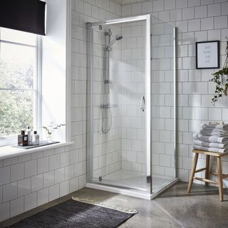 Add up style with shower enclosure and tray in your bathroom