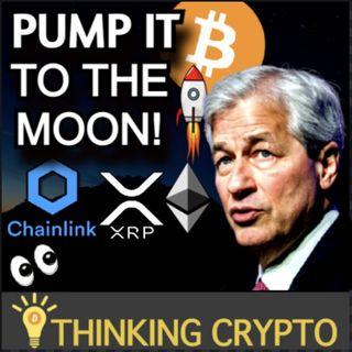 Crypto Market Pumps - JPMorgan Bitcoin Investment Live - US Crypto Regulations Battle - Chainlink Google Cloud