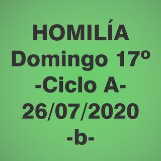 Homilía - Domingo 17 - 26 jul 2020 -b