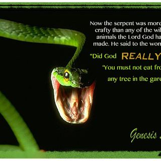 "DEMON TALK: THE SERPENT SAYS ""DID NOT GOD SAY??"""