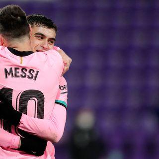 Como mire la victoria del barcelona en el partido contra el valladolid