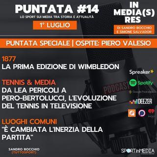#14 | Ospite Piero Valesio | Il tennis in Tv da Lea Pericoli a Pero-Bertolucci | Luogo comune: l'inerzia della partita