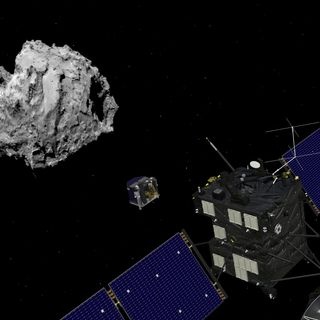 A Comet's Legacy, and a Helicopter is Ready for Mars