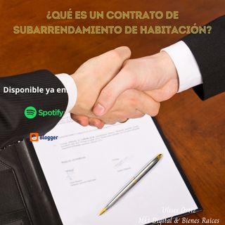 ¿Qué es un contrato de subarrendamiento?