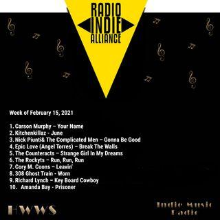 HWWS Indie Music Radio Top Ten Spotlight  02-15-2021