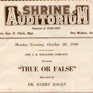 Classic Radio Theater for September 12, 2019 Hour 2 - True or False