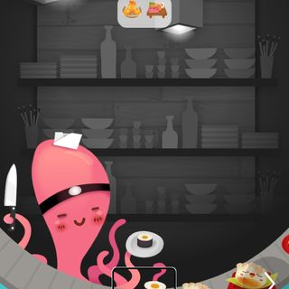 Demostración  del juego suShi Go para iOS