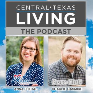 Anna Futral of CASA McLennan County and Charlie Gasmire of Boss Club