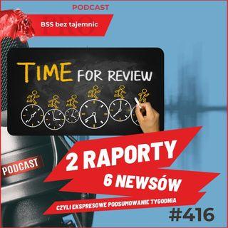 #416 2 Raporty 6 Newsów czyli Ekspresowe Podsumowanie Tygodnia 10 kwietnia 2021