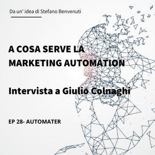 28 A cosa server la Marketing Automation - intervista di Giulio Colnaghi