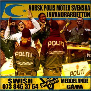 NORSK POLIS MÖTER SVENSKA INVANDRARGETTON