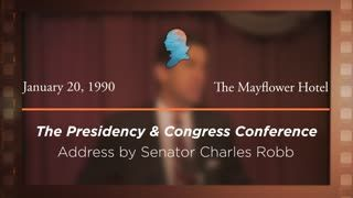 Opening Address by Senator Charles Robb [Archive Collection]