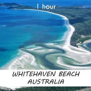 Whitehaven Beach, Australia | 1 hour OCEAN WAVES Sound Podcast | White Noise | ASMR sounds for deep Sleep | Relax | Meditation | Colicky