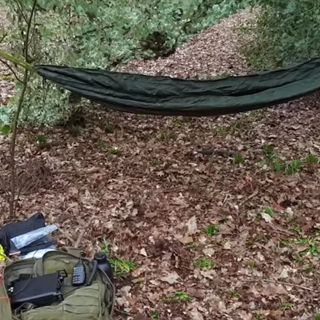 Bugging out overnight into the woods with amateur radio