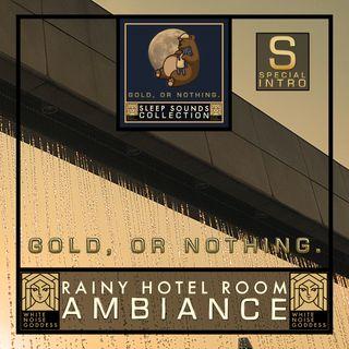 Rainy Hotel Room Ambiance | White Noise | ASMR & Relaxation