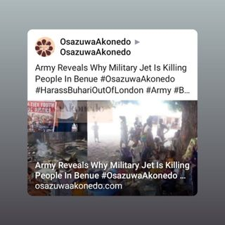 Army Reveals Why Military Jet Is Killing People In Benue #OsazuwaAkonedo #HarassBuhariOutOfLondon #Army #Benue #Attack #Nigeria