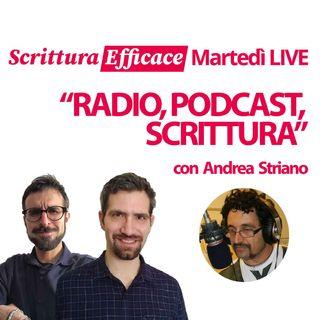 """Radio, podcast, scrittura, con Andrea """"Il Drago"""" Striano"""
