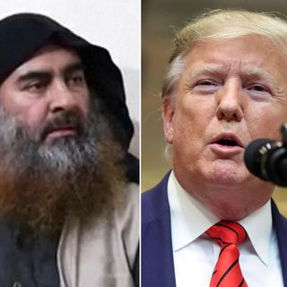 Will death of Islamic State leader boost President Trump's political survival?