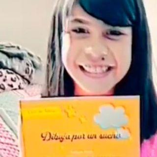 Alisson, la niña que vende sus dibujos para tener una casa, ahora lanza un libro