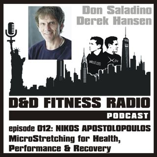 D&D Fitness Radio Podcast - Episode 012 - Nikos Apostolopoulos:  MicroStretching for Health, Performance and Recovery