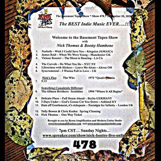 Show #478 - September 20, 2020