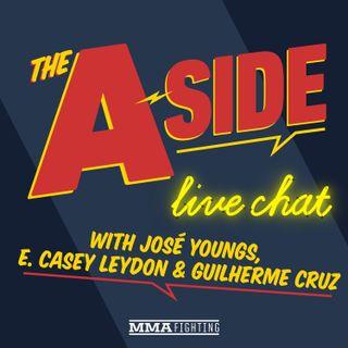 The A-Side Live Chat: Derek Brunson's TKO over Edmen Shahbazyan, UFC Vegas 5 fallout, Derrick Lewis vs. Aleksei Oleinik, Michael Chandler vs