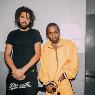 "Kendrick Lamar & J. Cole (unreleased). ""Crazy how this J. Cole and Kendrick Lamar collab song never got released"""