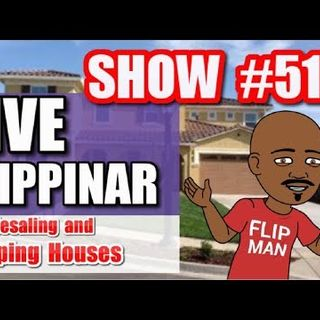 Flipping Houses | Live Show #51 Flippinar: House Flipping With No Cash or Credit 04-26-18