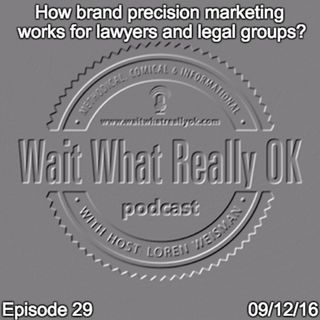 How brand precision marketing works  for lawyers and legal groups.