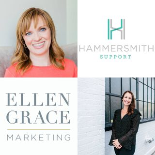 Heather Locke with Hammersmith Support and Lyndsay Clements with Ellen Grace Marketing