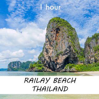 Railay Beach, Thailand  | 1 hour OCEAN WAVES Sound Podcast | White Noise | ASMR sounds for deep Sleep | Relax | Meditation | Colicky