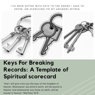 Keys For breaking Records: Templates Of Spiritual Scorecards