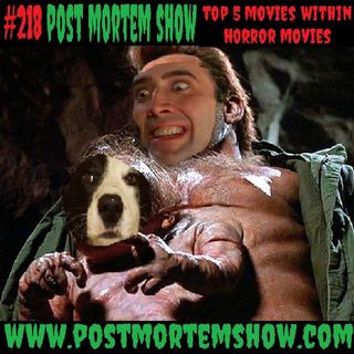 e218 - Sextoplasm Simians (Top 5 Movies Within Horror Movies)