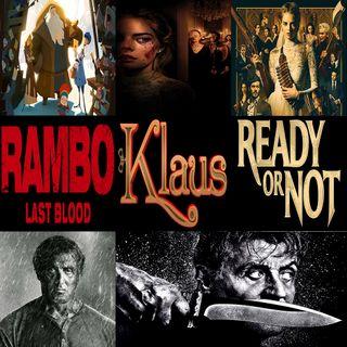Week 142: (Rambo: Last Blood (2019), Klaus (2019), Ready or Not (2019))