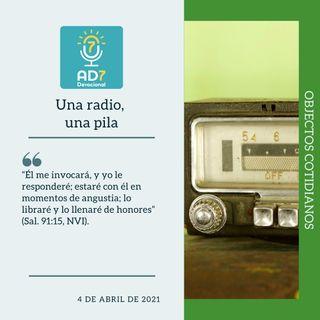 4 de abril - Una radio, una pila - Devocional de Jóvenes - Etiquetas Para Reflexionar