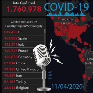 Covid-19 , # de infectados 11/04/20
