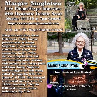 INTERVIEW WITH MARGIE SINGLETON !!!   9-17-18