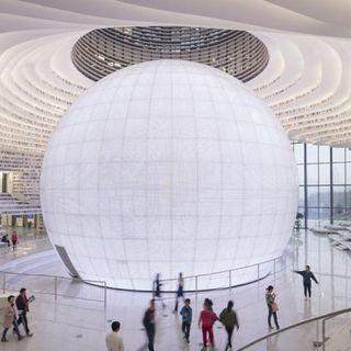 Cina, aperta la libreria più ricca del mondo con 1.2 milioni di libri e un'architettura straordinaria
