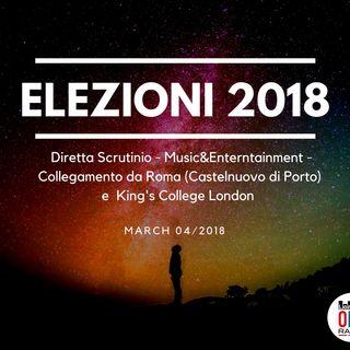 Diretta No stop- elezioni 2018 - La lunga notte degli SCRUTINI e degli OSCAR  Collegamenti dal King's College London e da Roma