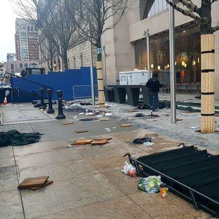 Crews Clean Up After 122nd Boston Marathon