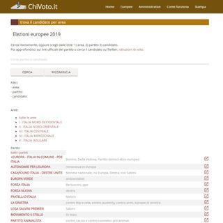 1236 Elezioni 2019, chi voto ? Chivoto.it è la guida per gli indecisi o chi si vuole informare