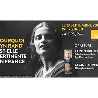 Yaron Lectures: Who is Ayn Rand and Why is She Relevant in France?