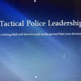 Episode 2 - Tactical Police Leadership
