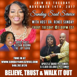 Power of God Host The Joy Guru Alesha Brown Apostle David & Elder Delores Pettaway